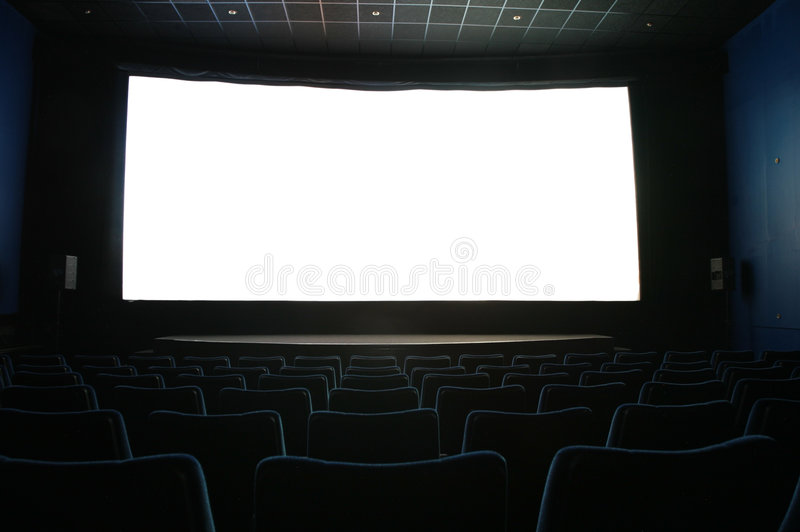 Screen In Dark Cinema Royalty Free Stock Images