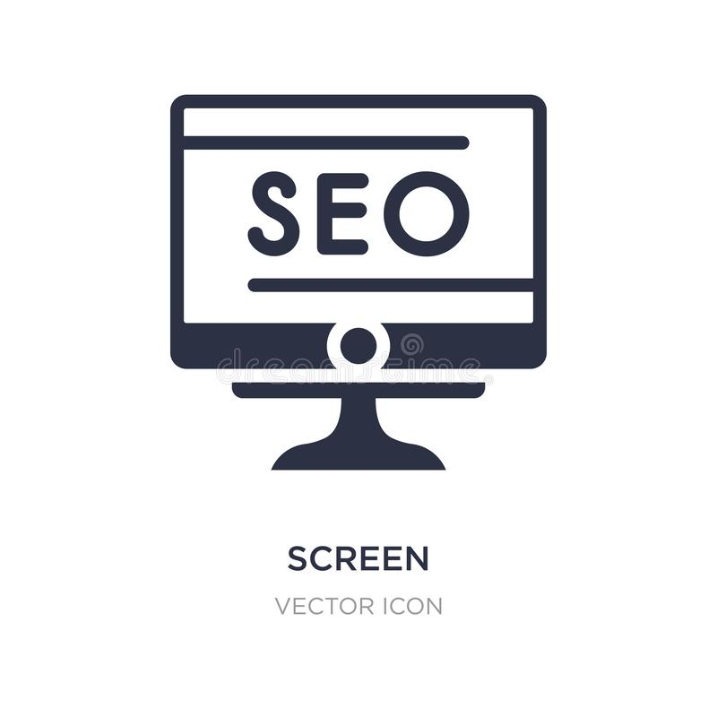 screen icon on white background. Simple element illustration from Search engine optimization concept stock illustration
