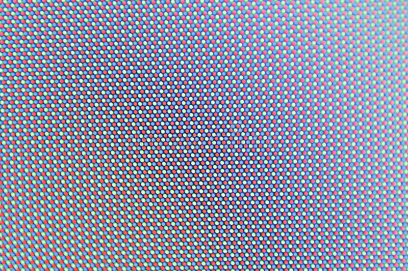 Screen leds. In macro view on a tft panel royalty free stock photos