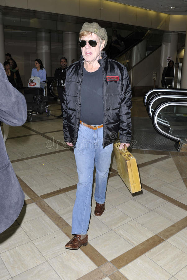 Download Screen Legend Robert Redford At LAX Editorial Stock Image - Image: 14446979