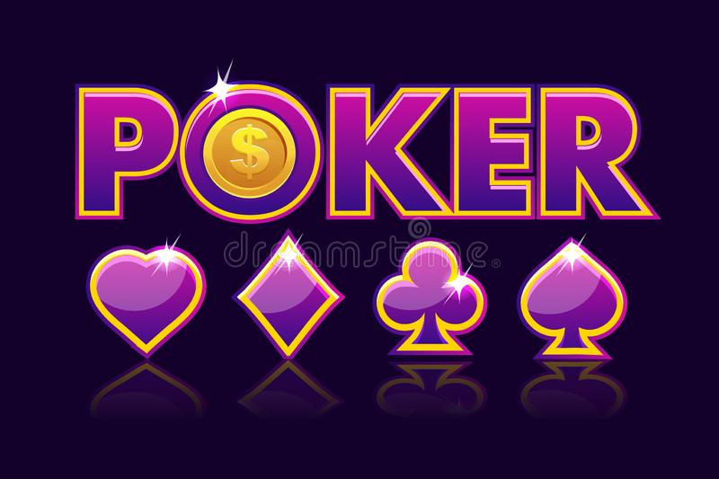 Screen Logo Poker Background For Lottery Or Casino Slot Gambling Icons With Game Card Signs Game Casino Slot Ui Vector Stock Vector Illustration Of Lottery Money 133455288