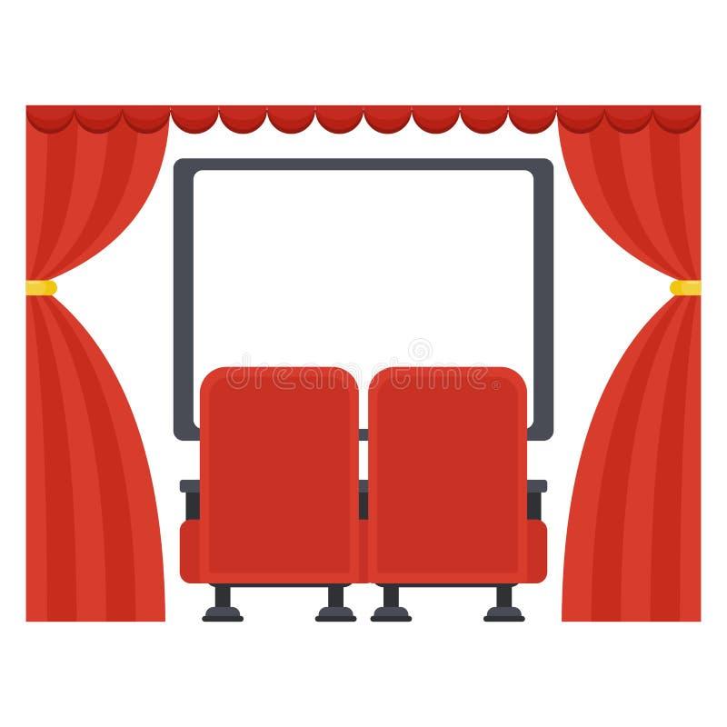screen in movie theater stock vector illustration of seats 84204678 rh dreamstime com movie theatre clip art movie theater clip art free