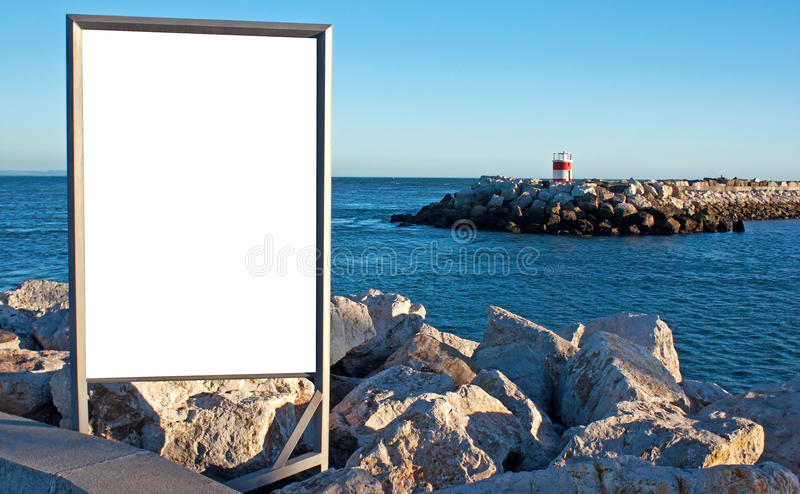 Screen outdoor advertising royalty free stock image