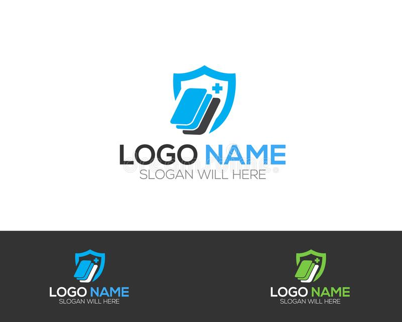 Screen Protector Company Logo Template online store vectors illustration. This is very easy to use. U ca Use as your won simply royalty free illustration