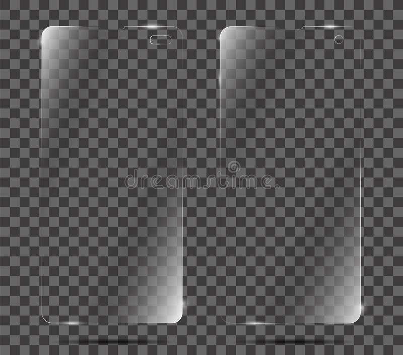 Screen protector film or glass cover. Screen protector Glass - Vector vector illustration