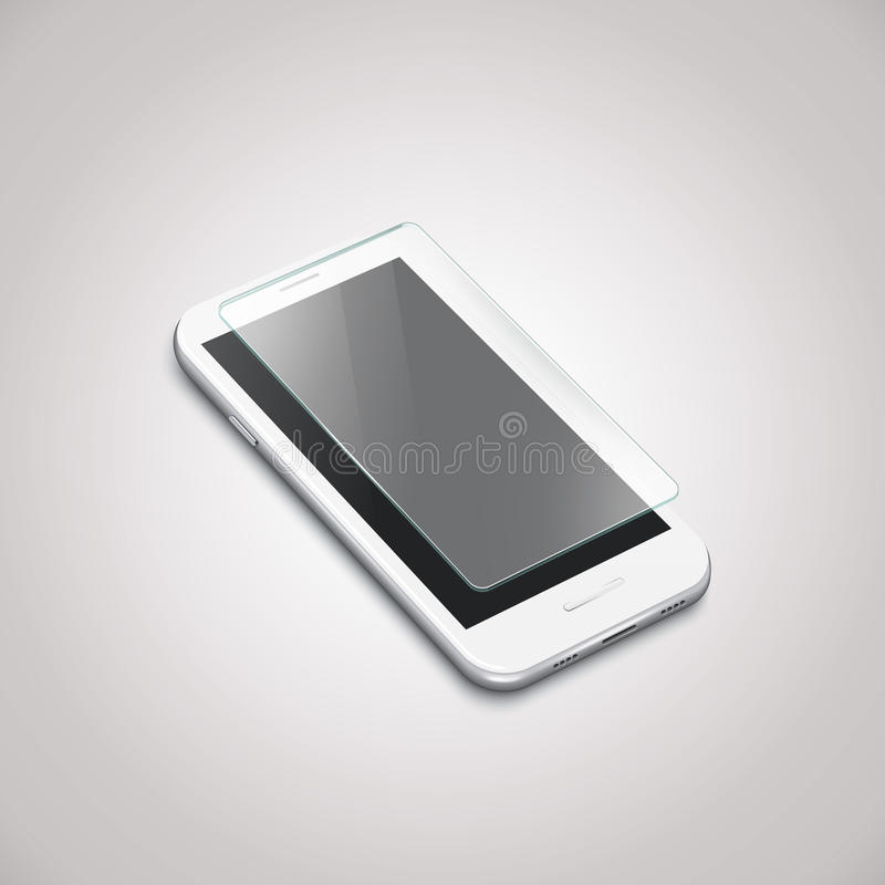 Screen Protector Glass vector illustration