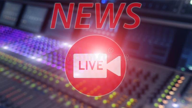 Screen saver del fondo su ultime notizie Concetto moderno di ultime notizie Logo della TV Notizie in tensione dell'iscrizione sul fotografia stock libera da diritti