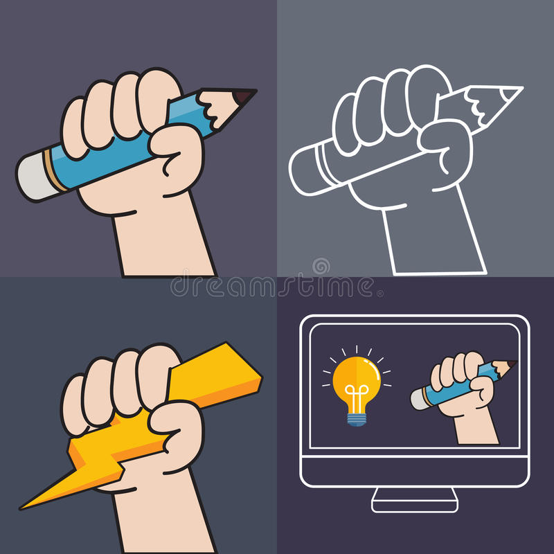 Screen sketching vector illustration