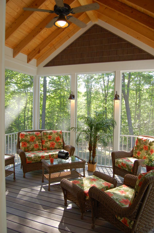 Free Screened In Porch Deck Stock Images - 14165314