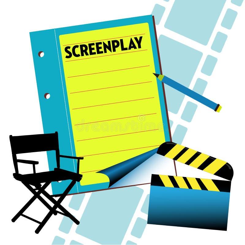 screenplay ilustração royalty free