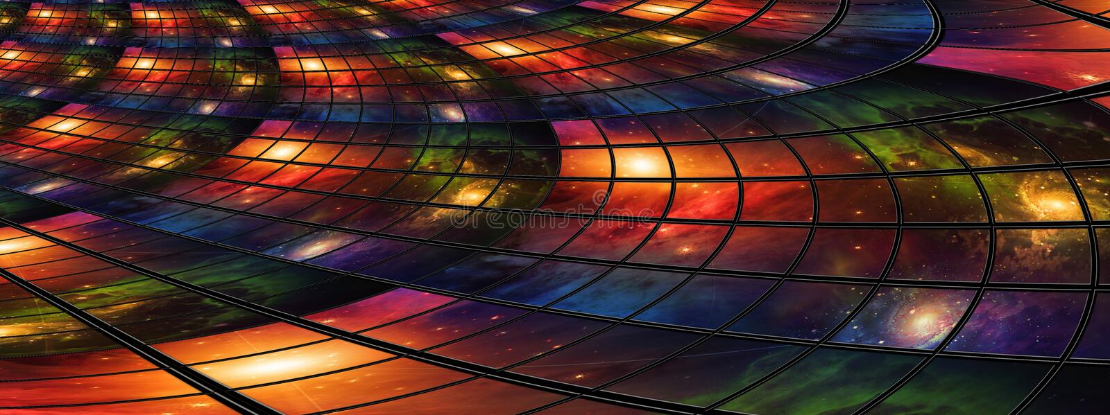 Screens Abstract. Video and image screens abstract royalty free illustration