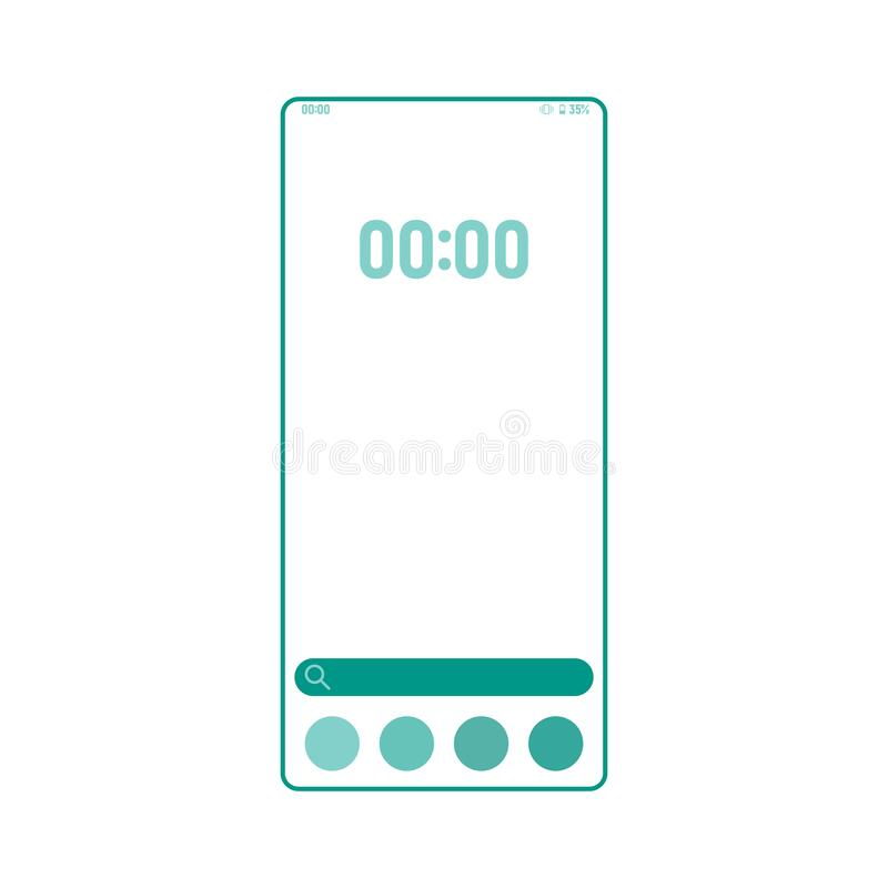 Screenshot taking tool smartphone interface vector template. Mobile app page color design layout. Camera display capturing vector illustration