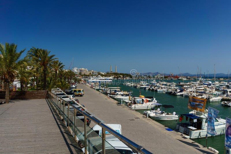 Screenshots de Alcudia portuário fotografia de stock royalty free