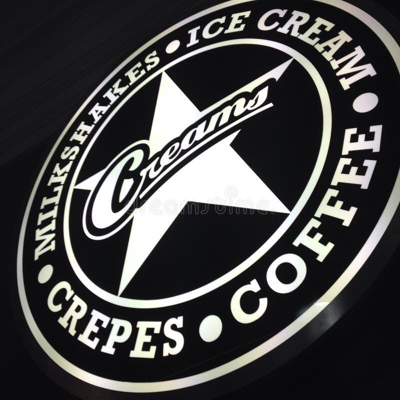 Screma il caffè immagini stock libere da diritti