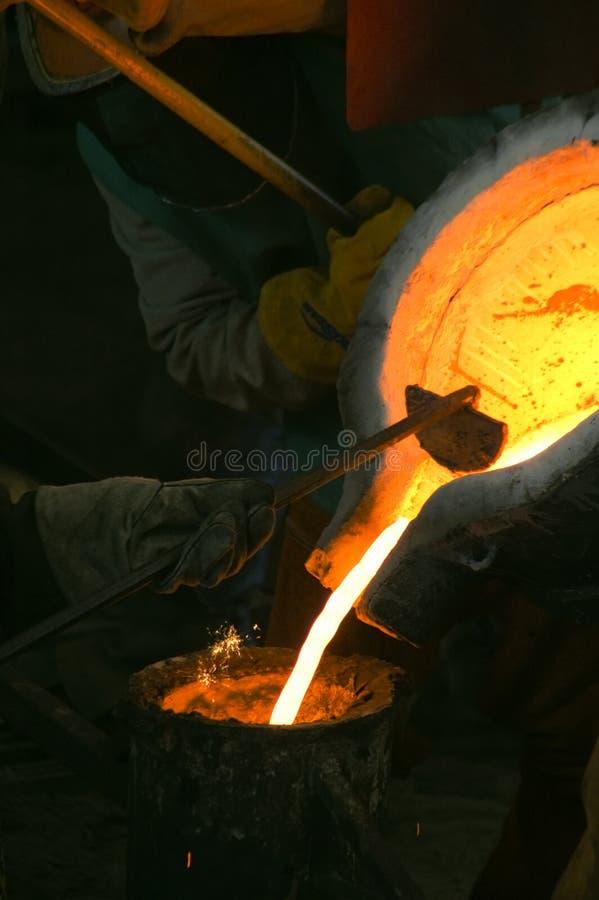 Scrematura della siviera del Bull fotografie stock libere da diritti