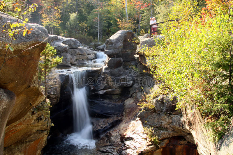 Auger Falls in Fall Foliage stock photos