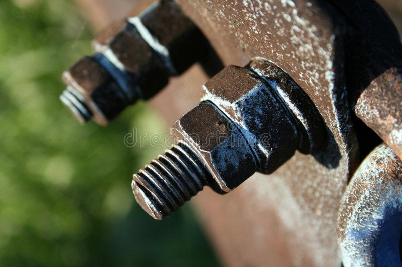 And bolt. The old rusty and bolt (close-up background stock photography