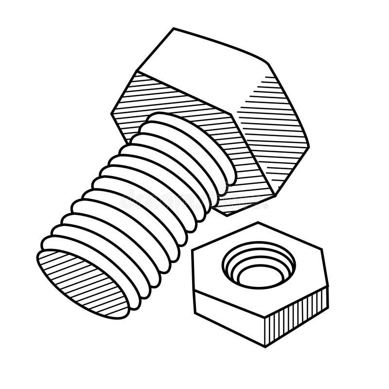 Free Screw Bolt With Nut Stock Photos - 176321213