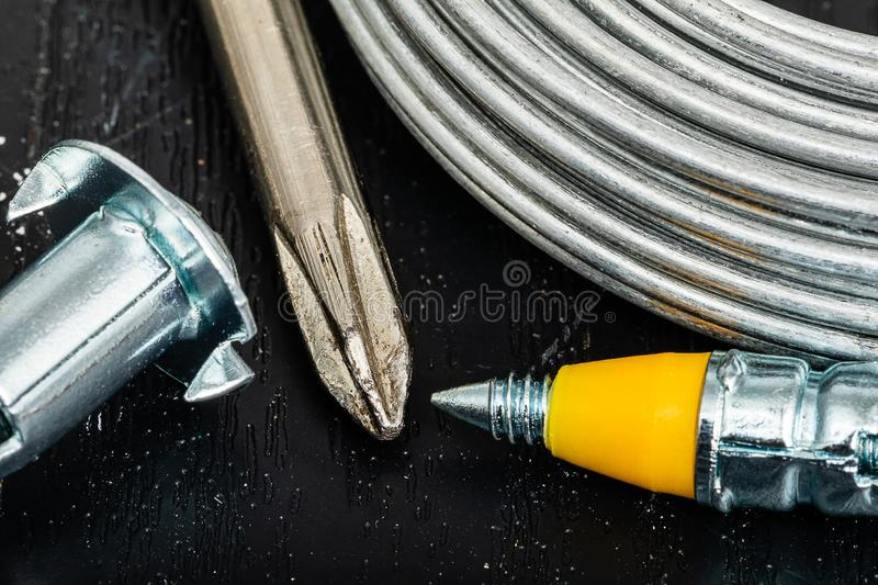 Drivers Wire and Screws royalty free stock image