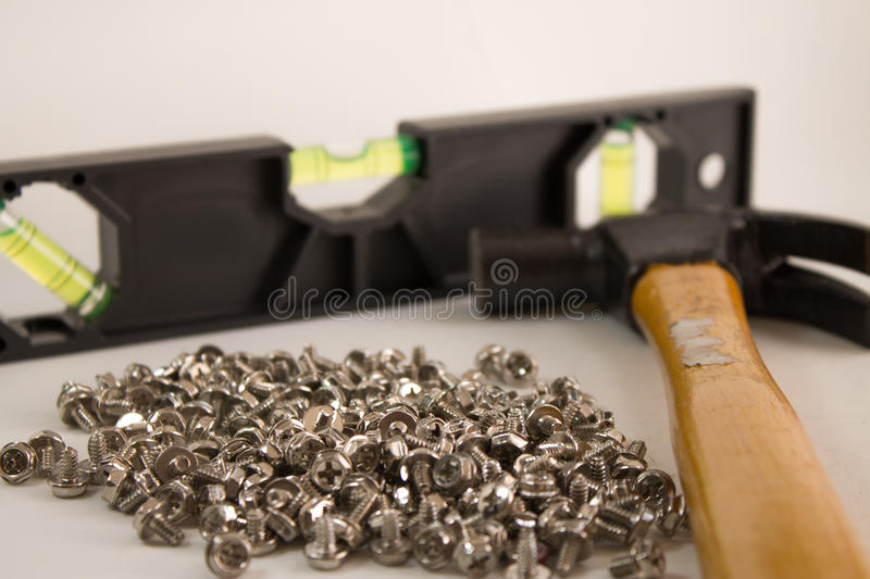 and hammer royalty free stock photos