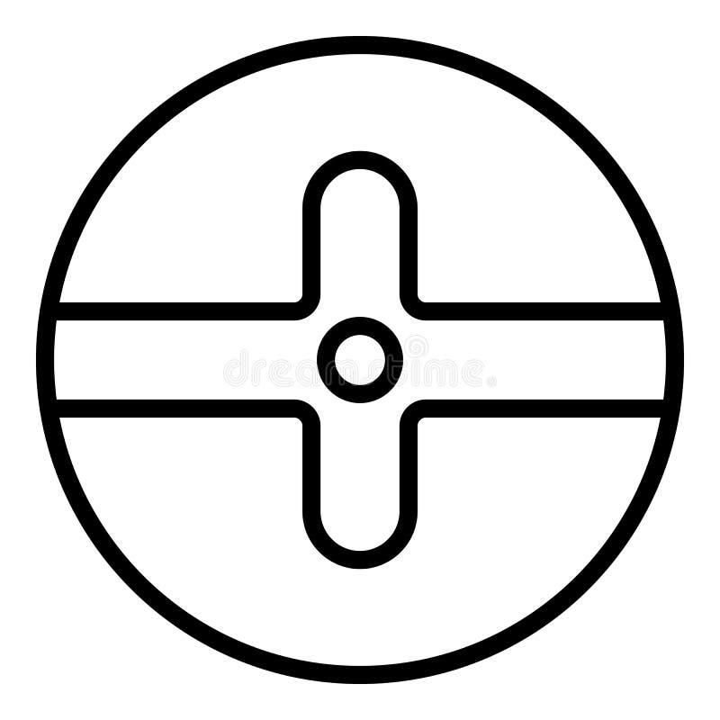 Screw head icon, outline style. Screw head icon. Outline screw head vector icon for web design isolated on white background royalty free illustration