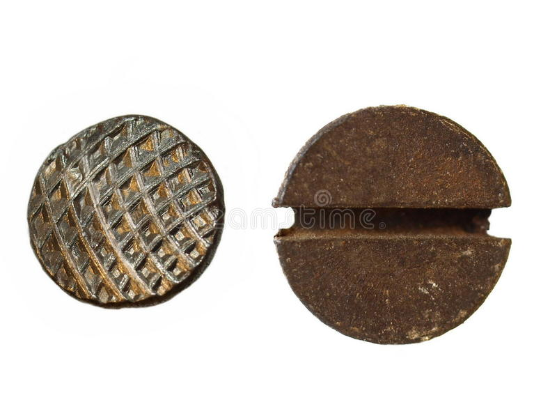 Download Heads old metal nail stock photo. Image of circle, heads - 16728062