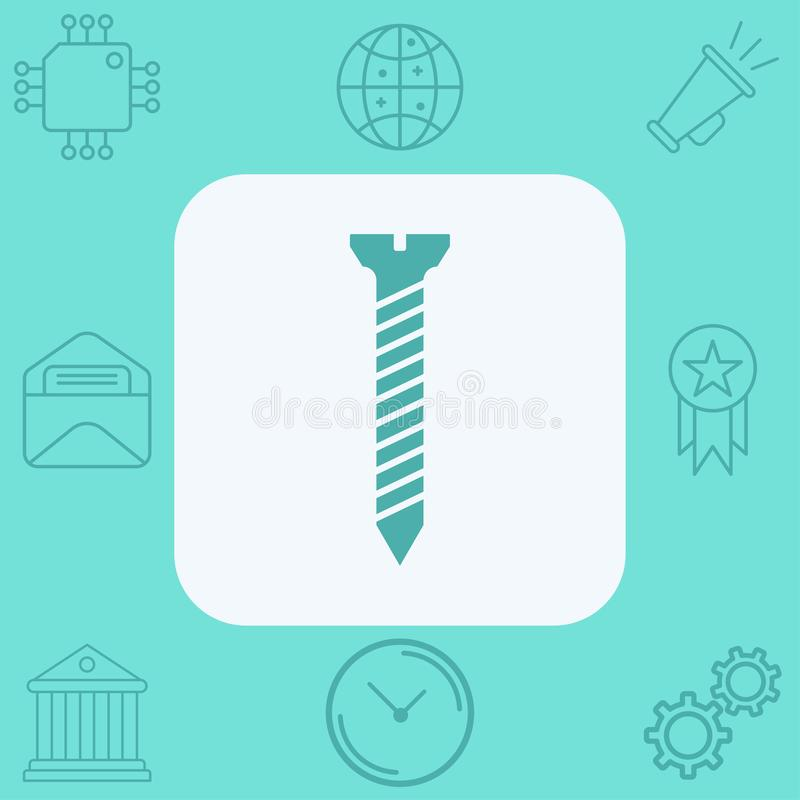 Screw  icon sign symbol. Screw icon , filled flat sign, solid pictogram isolated on white. Symbol, logo illustration vector illustration