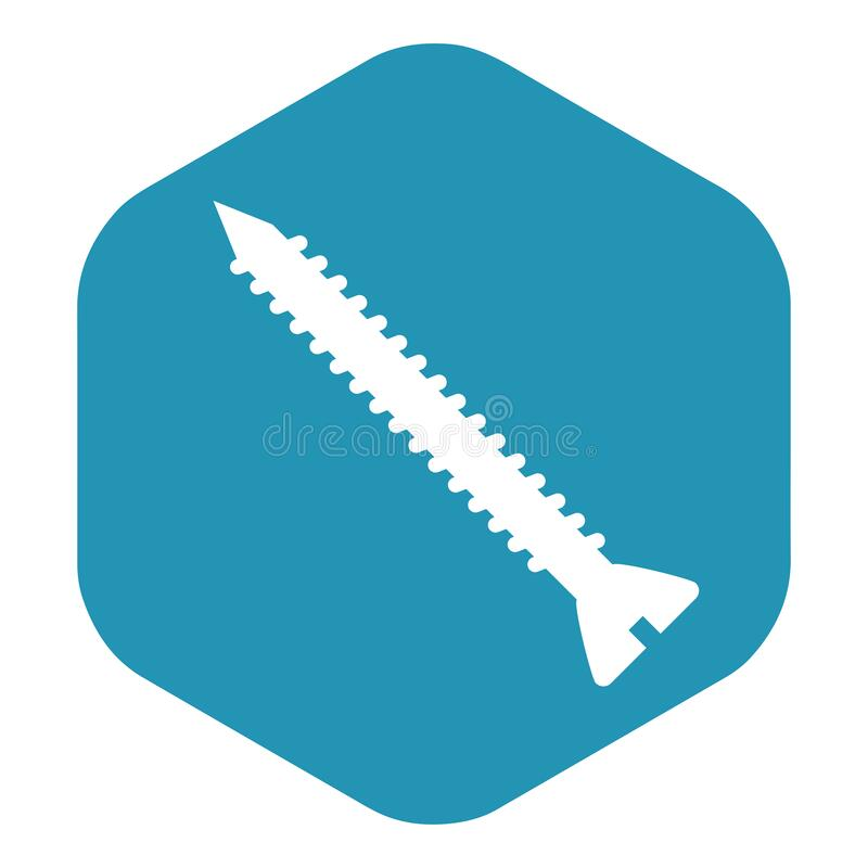 Free Screw Icon. The Fastener May Be In The Form Of Rod With External Thread. Royalty Free Stock Photos - 180888968