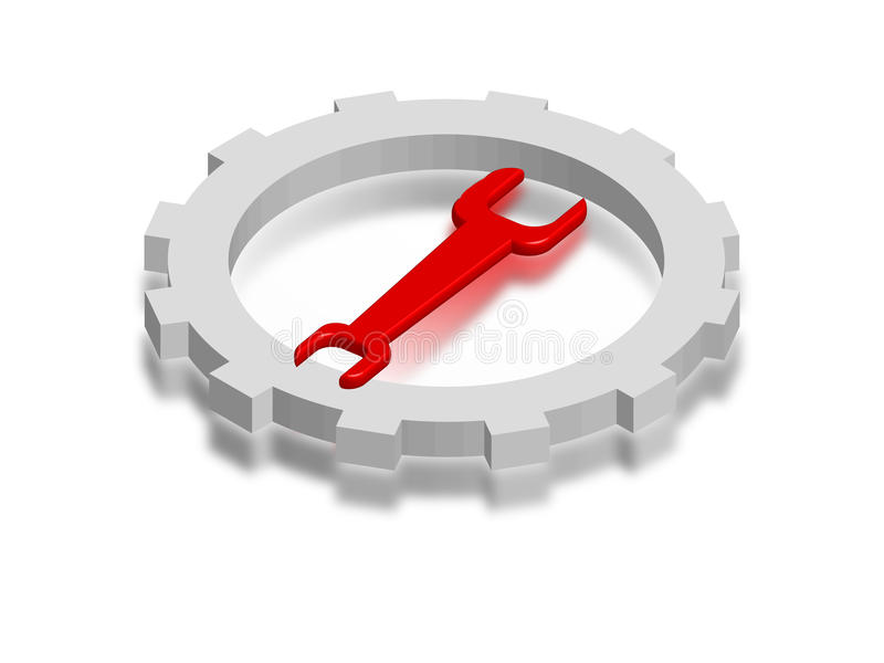 Download Key gear stock illustration. Illustration of arrangement - 11068781