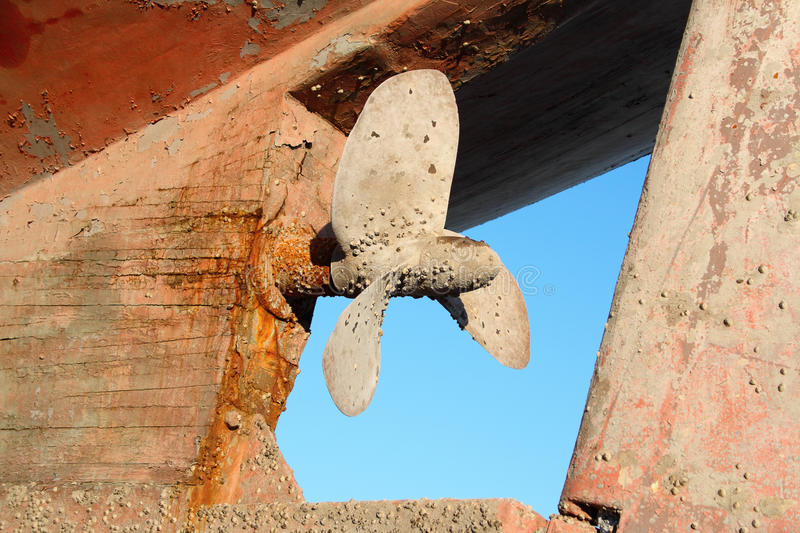 Download Propeller stock photo. Image of rusty, shore, pier, rust - 12601128