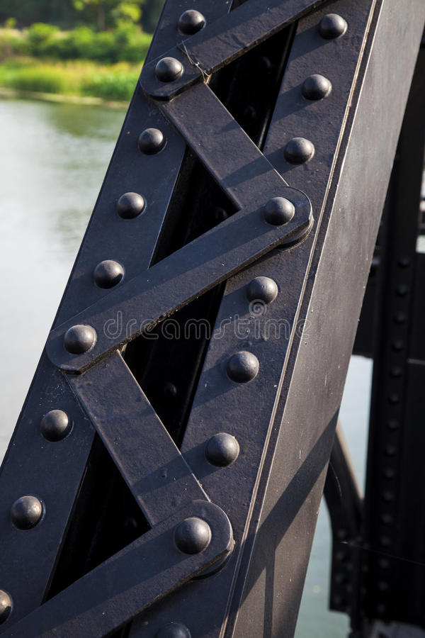 steel railway bridges based on strength. stock image
