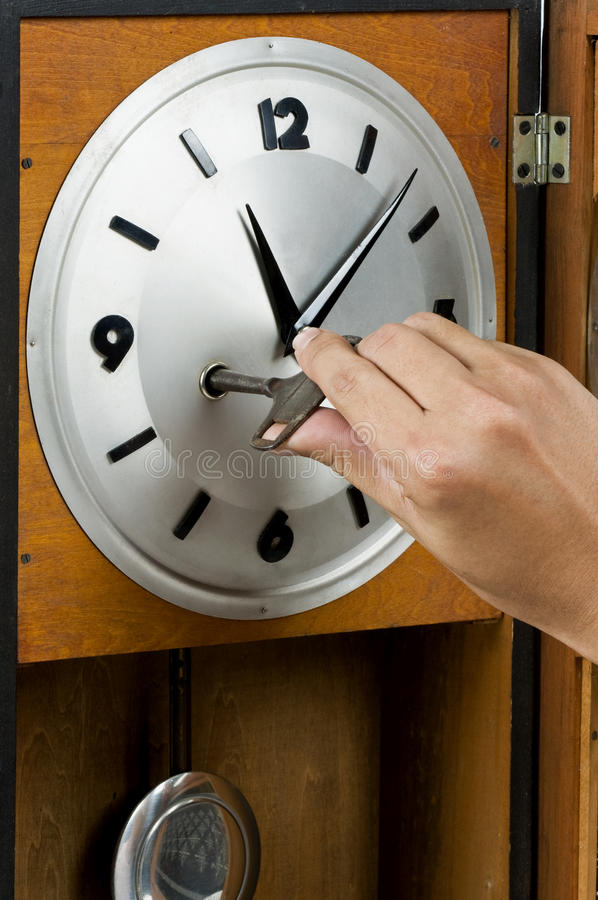It up. Old clock it up royalty free stock photos