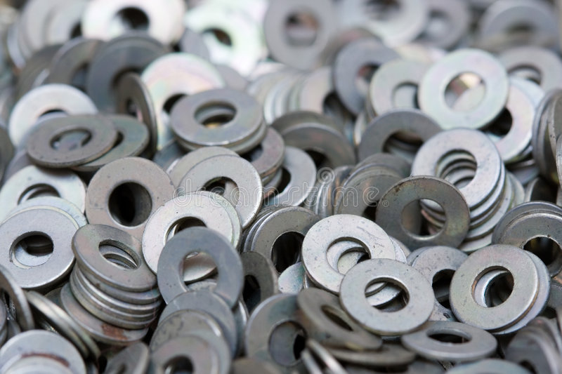 washers royalty free stock images