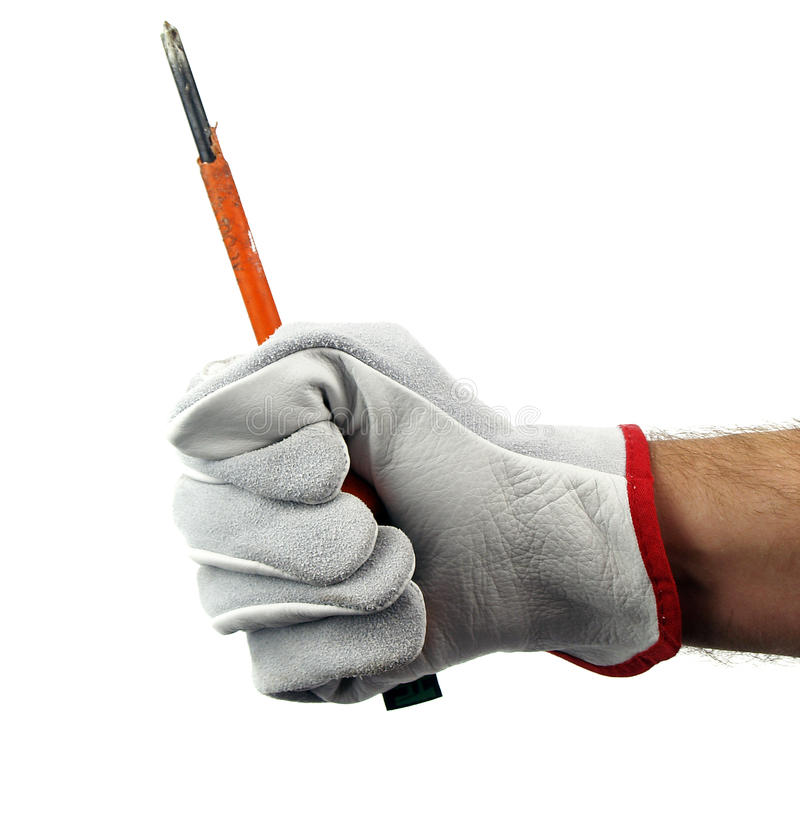 Download Screwdriver in hand stock photo. Image of holding, gesturing - 30037508
