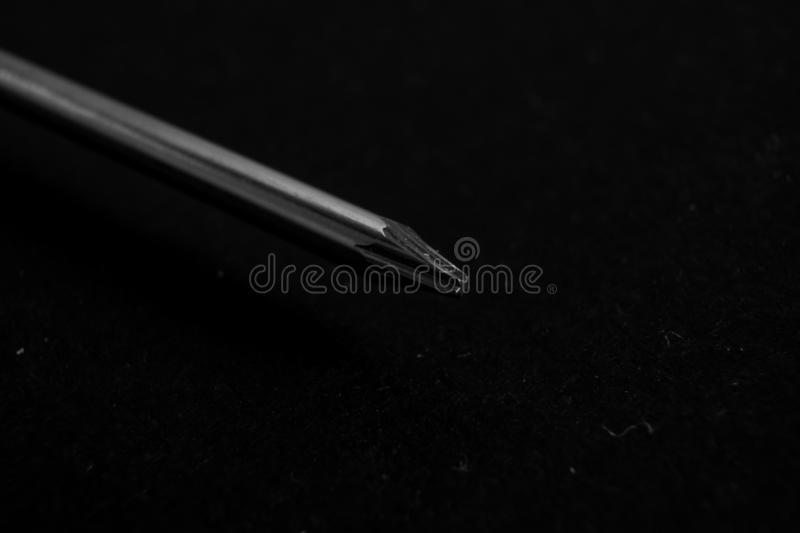 Screwdriver, macro photo stock images