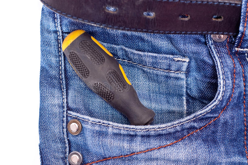 Download Screwdriver in pocket stock image. Image of color, horizontal - 13505199