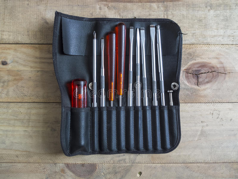 Screwdriver Set. Hand tools to Repair stock photos