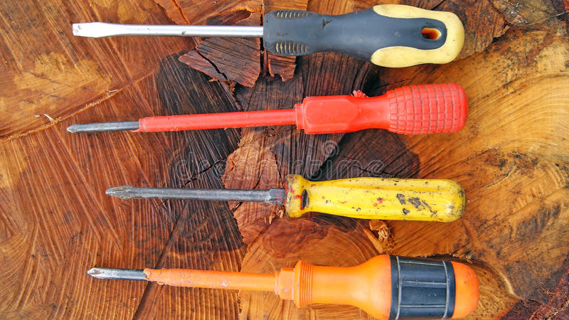 Download Screwdriver stock photo. Image of handyman, cabinet, wood - 31954286