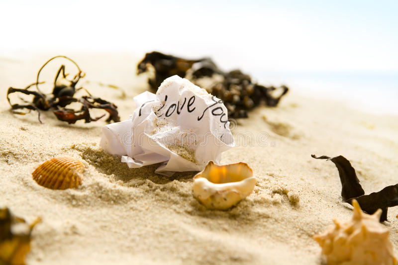 Screwed love letter royalty free stock images