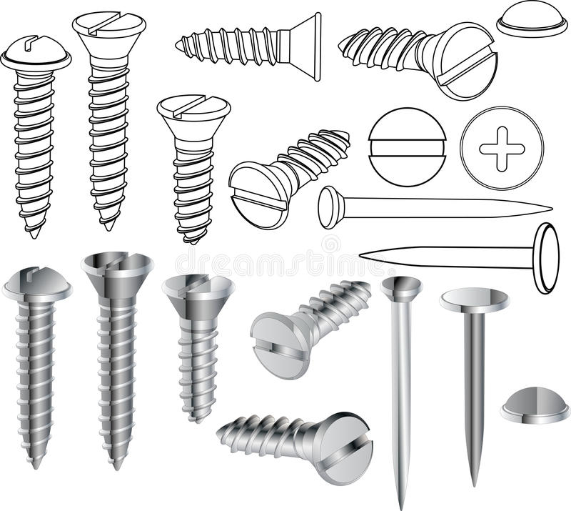 Free Screws And Nails Royalty Free Stock Images - 13069549