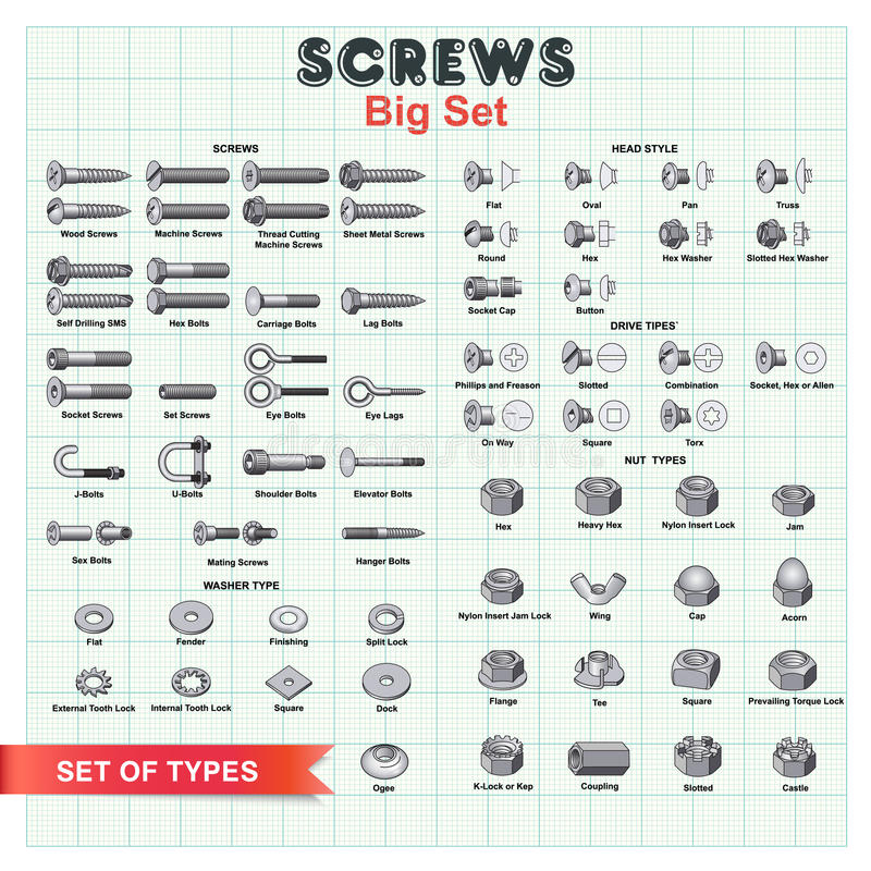 Free SCREWS Big Set Stock Photo - 73579600