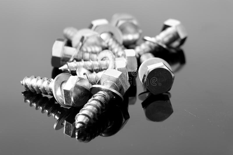 Screws in black and white