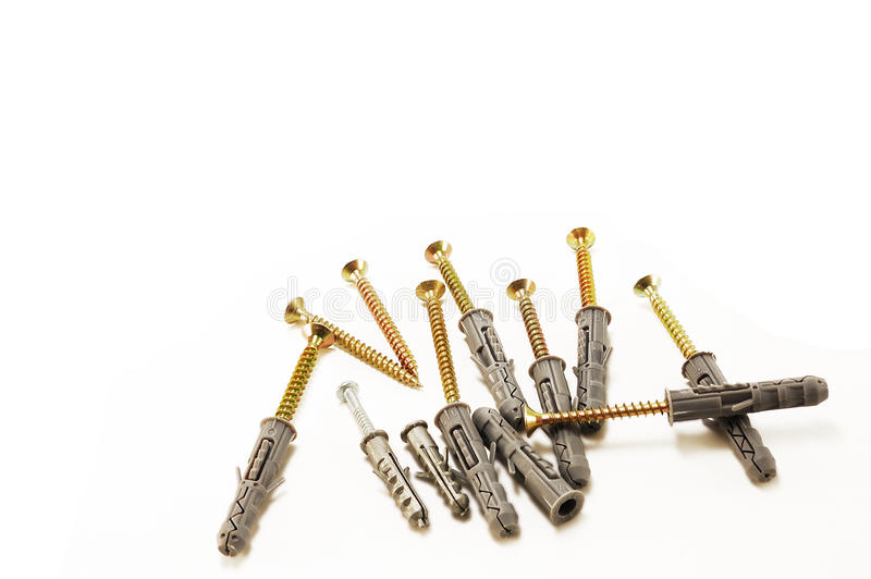 Download Screws with dowels stock image. Image of piles, tools - 13147065