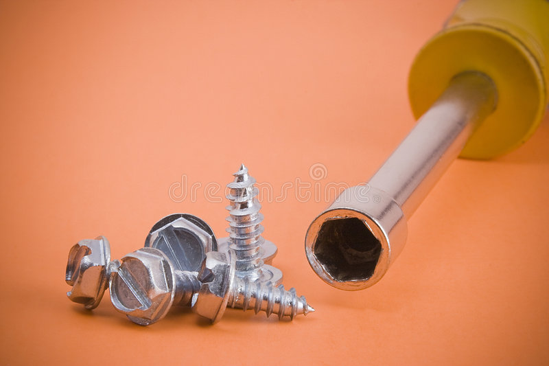 Download Screws and nutdriver stock image. Image of steel, tool - 3694705
