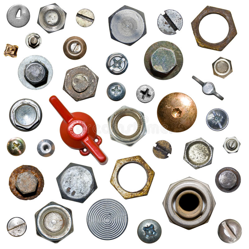 Screws and nuts royalty free stock photography