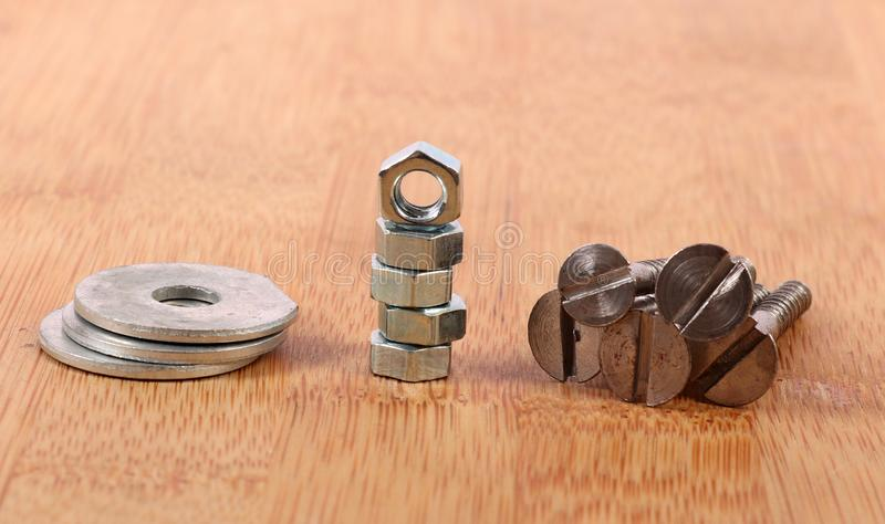 Screws and nuts royalty free stock image