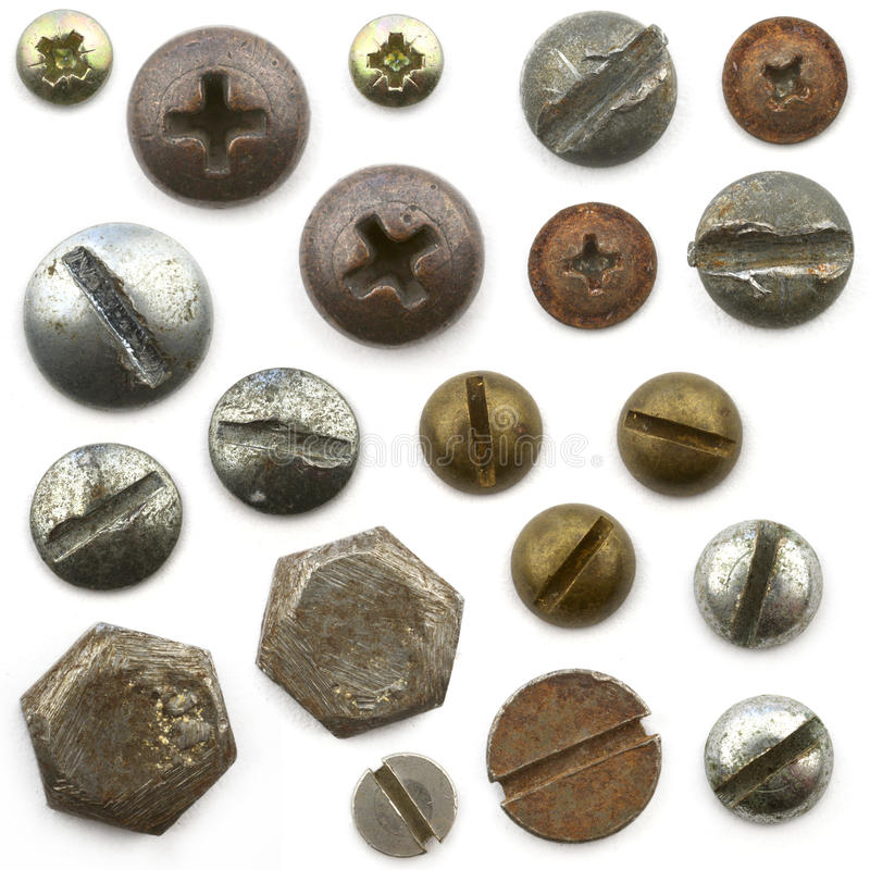 Screws, nuts and bolts stock photography