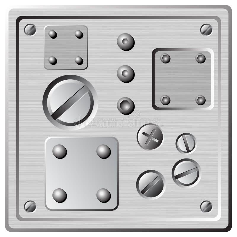 Download Screws rivets stock vector. Image of nails, grey, nuts - 11842657