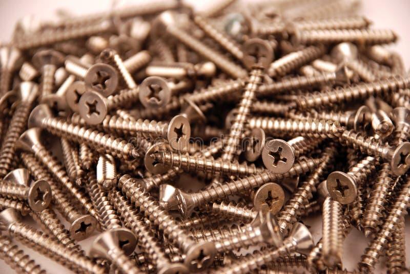 Screws - stainless steel stock photos