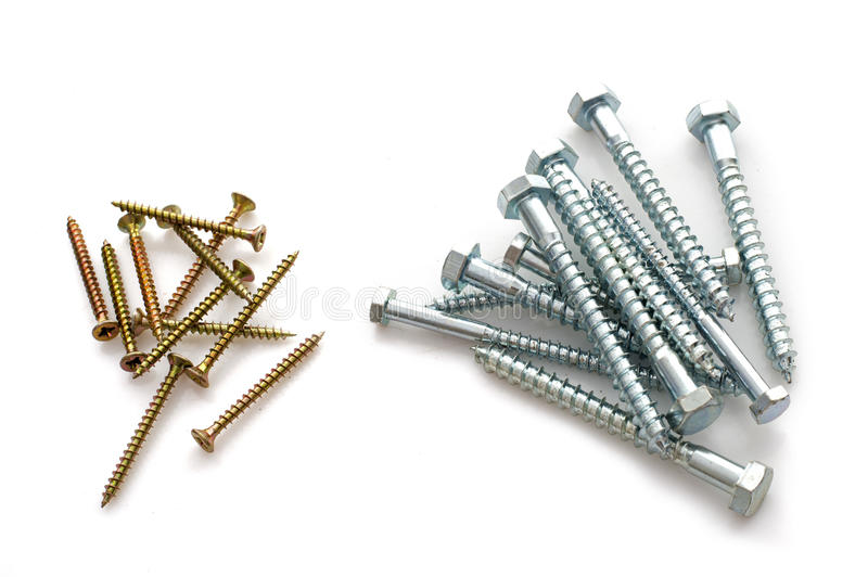Screws in studio royalty free stock image